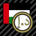 exchange, money, uae, coin, dirham, payment icon