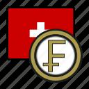 coin, exchange, franc, money, payment, switzerland