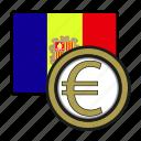 andorra, coin, euro, exchange, money, payment
