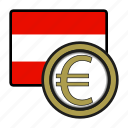 austria, coin, euro, exchange, money, payment