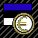 coin, estonia, euro, exchange, money, payment
