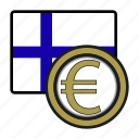 coin, euro, exchange, finland, money, payment