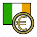 coin, euro, exchange, ireland, money, payment