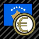 coin, euro, exchange, kosovo, money, payment