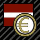 coin, euro, exchange, latvia, money, payment