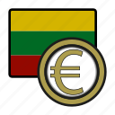 coin, euro, exchange, lithuania, money, payment