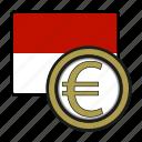 coin, euro, exchange, monaco, money, payment