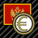 coin, euro, exchange, money, montenegro, payment