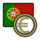 coin, euro, portugal, payment, money, exchange