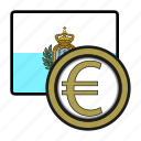 coin, euro, exchange, money, payment, san marino