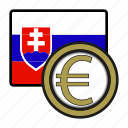 coin, euro, exchange, money, payment, slovakia