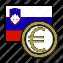 coin, euro, exchange, money, payment, slovenia