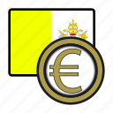 coin, euro, exchange, money, payment, vatican city