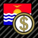 coin, dollar, exchange, kiribati, money, payment