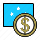 coin, dollar, exchange, micronesia, money, payment