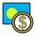coin, dollar, exchange, money, palau, payment
