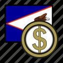 coin, dollar, exchange, money, samoa, payment