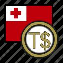 coin, exchange, money, paanga, tonga, payment