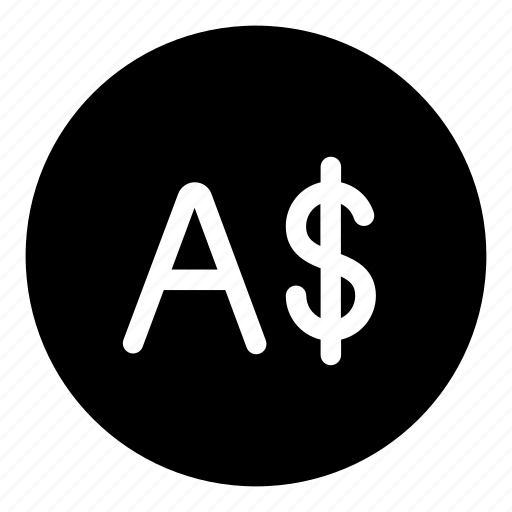 australia, currency, dollar, sign icon
