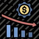 economic, downturn, turnover, loss, recession