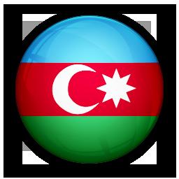 Azerbaijan Flag Circle