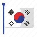 flag, flags, south korea icon