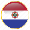 america, paraguay, paraguayan, pry, south icon