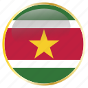 america, south, sur, suriname, surinamese icon