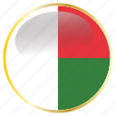 country, flags, madagascar icon
