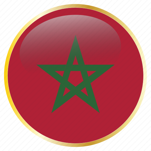 country, flags, morocco icon