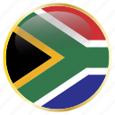 africa, country, flags, south icon