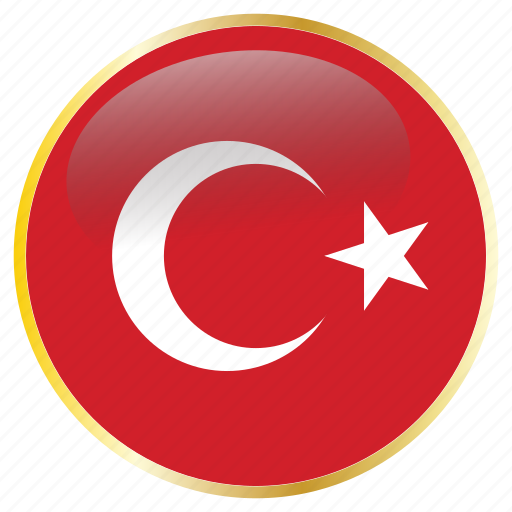 country, flags, turkey icon