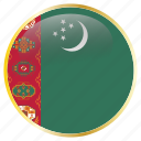 country, flag, flags, turkmenistan