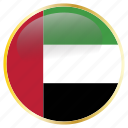 arab, country, emirates, flags, united icon
