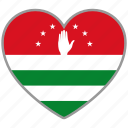 abkhazia, country, flag, flag heart, love icon