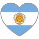 argentina, country, flag, flag heart, love icon