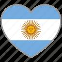 argentina, flag heart, country, flag, love