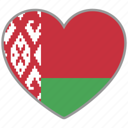 belarus, country, flag, flag heart, love icon