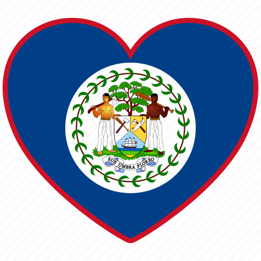 belize, country, flag, flag heart, love icon