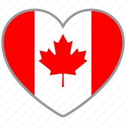 canada, country, flag, flag heart, love, nation icon