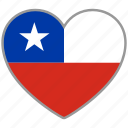 chile, flag heart, country, flag, love