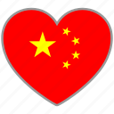 china, flag heart, asian, chinese, country, flag, love