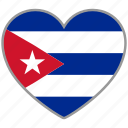 country, cuba, flag, flag heart, love, nation icon