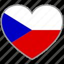 czech, flag heart, country, flag, love, nation