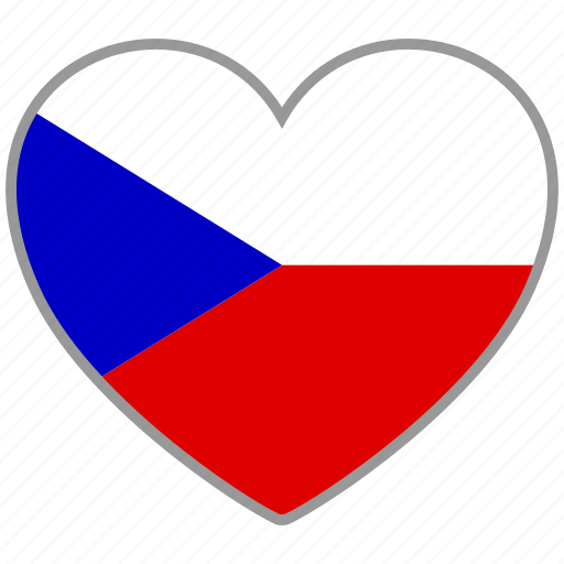 country, czech, flag, flag heart, love, nation icon