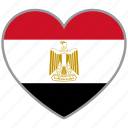 country, egypt, egyptian, flag, flag heart, love icon