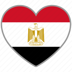 country, egypt, egyptian, flag, flag heart, love icon