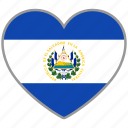 country, el salvador, elsalvador, elsalvador's, flag, flag heart icon