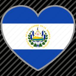 country, el salvador, elsalvador, elsalvador's, flag, flag heart icon