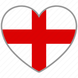 country, england, flag, flag heart, love icon